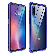 Silikon Schutzhülle Rahmen Tasche Hülle Durchsichtig Transparent Spiegel für Xiaomi Mi 9 Pro Blau