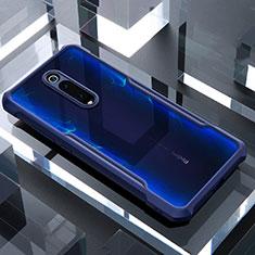 Silikon Schutzhülle Rahmen Tasche Hülle Durchsichtig Transparent Spiegel für Xiaomi Mi 9T Pro Blau