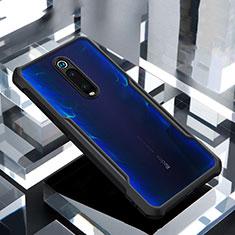 Silikon Schutzhülle Rahmen Tasche Hülle Durchsichtig Transparent Spiegel für Xiaomi Mi 9T Schwarz
