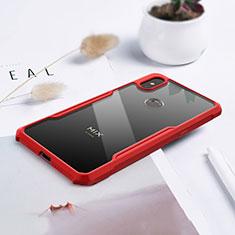 Silikon Schutzhülle Rahmen Tasche Hülle Durchsichtig Transparent Spiegel für Xiaomi Mi Mix 3 Rot
