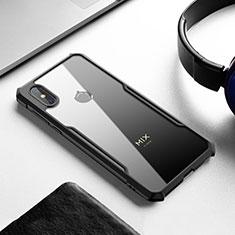 Silikon Schutzhülle Rahmen Tasche Hülle Durchsichtig Transparent Spiegel für Xiaomi Mi Mix 3 Schwarz