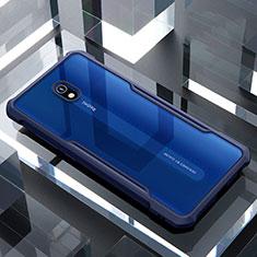 Silikon Schutzhülle Rahmen Tasche Hülle Durchsichtig Transparent Spiegel für Xiaomi Redmi 8A Blau