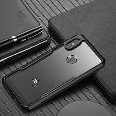 Silikon Schutzhülle Rahmen Tasche Hülle Durchsichtig Transparent Spiegel für Xiaomi Redmi Note 6 Pro Schwarz