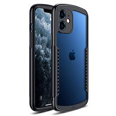 Silikon Schutzhülle Rahmen Tasche Hülle Durchsichtig Transparent Spiegel H01 für Apple iPhone 12 Schwarz