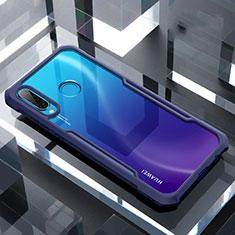 Silikon Schutzhülle Rahmen Tasche Hülle Durchsichtig Transparent Spiegel H01 für Huawei Nova 4e Blau