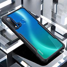 Silikon Schutzhülle Rahmen Tasche Hülle Durchsichtig Transparent Spiegel H01 für Huawei Nova 5i Schwarz