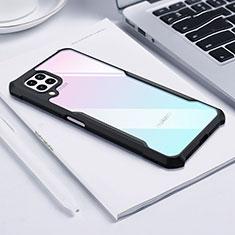 Silikon Schutzhülle Rahmen Tasche Hülle Durchsichtig Transparent Spiegel H01 für Huawei P40 Lite Schwarz