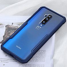 Silikon Schutzhülle Rahmen Tasche Hülle Durchsichtig Transparent Spiegel H01 für OnePlus 7T Pro Blau