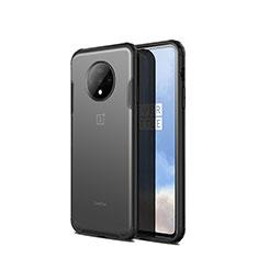 Silikon Schutzhülle Rahmen Tasche Hülle Durchsichtig Transparent Spiegel H01 für OnePlus 7T Schwarz