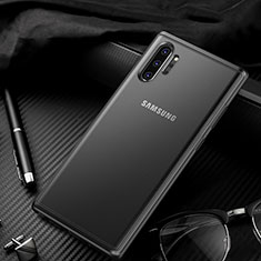 Silikon Schutzhülle Rahmen Tasche Hülle Durchsichtig Transparent Spiegel H01 für Samsung Galaxy Note 10 Plus 5G Schwarz