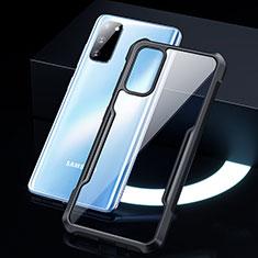 Silikon Schutzhülle Rahmen Tasche Hülle Durchsichtig Transparent Spiegel H01 für Samsung Galaxy S20 5G Schwarz
