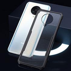 Silikon Schutzhülle Rahmen Tasche Hülle Durchsichtig Transparent Spiegel H01 für Xiaomi Redmi K30 Pro 5G Schwarz