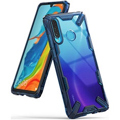 Silikon Schutzhülle Rahmen Tasche Hülle Durchsichtig Transparent Spiegel H02 für Huawei Nova 4e Blau
