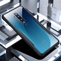 Silikon Schutzhülle Rahmen Tasche Hülle Durchsichtig Transparent Spiegel H02 für OnePlus 7T Pro Schwarz