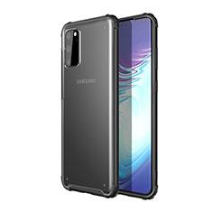 Silikon Schutzhülle Rahmen Tasche Hülle Durchsichtig Transparent Spiegel H02 für Samsung Galaxy S20 5G Schwarz