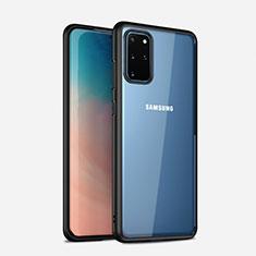 Silikon Schutzhülle Rahmen Tasche Hülle Durchsichtig Transparent Spiegel H02 für Samsung Galaxy S20 Plus Schwarz