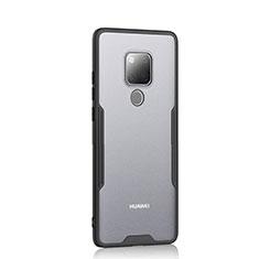 Silikon Schutzhülle Rahmen Tasche Hülle Durchsichtig Transparent Spiegel H04 für Huawei Mate 20 Schwarz