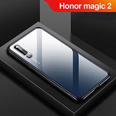Silikon Schutzhülle Rahmen Tasche Hülle Durchsichtig Transparent Spiegel M01 für Huawei Honor Magic 2 Schwarz