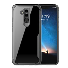 Silikon Schutzhülle Rahmen Tasche Hülle Durchsichtig Transparent Spiegel M01 für Huawei Mate 20 Lite Schwarz