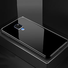 Silikon Schutzhülle Rahmen Tasche Hülle Durchsichtig Transparent Spiegel M01 für Huawei Mate 20 Schwarz