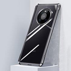 Silikon Schutzhülle Rahmen Tasche Hülle Durchsichtig Transparent Spiegel M01 für Huawei Mate 40 Schwarz
