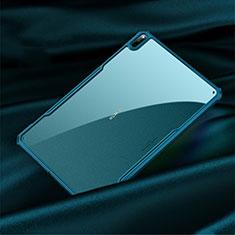 Silikon Schutzhülle Rahmen Tasche Hülle Durchsichtig Transparent Spiegel M01 für Huawei MatePad Pro 5G 10.8 Cyan