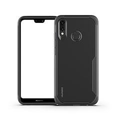 Silikon Schutzhülle Rahmen Tasche Hülle Durchsichtig Transparent Spiegel M01 für Huawei P20 Lite Schwarz