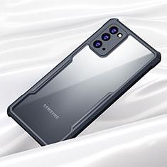 Silikon Schutzhülle Rahmen Tasche Hülle Durchsichtig Transparent Spiegel M01 für Samsung Galaxy Note 20 5G Schwarz
