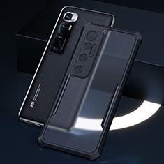 Silikon Schutzhülle Rahmen Tasche Hülle Durchsichtig Transparent Spiegel M01 für Xiaomi Mi 10 Ultra Schwarz