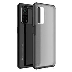 Silikon Schutzhülle Rahmen Tasche Hülle Durchsichtig Transparent Spiegel M01 für Xiaomi Mi 10T Pro 5G Schwarz