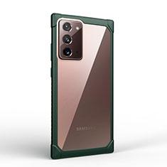 Silikon Schutzhülle Rahmen Tasche Hülle Durchsichtig Transparent Spiegel M02 für Samsung Galaxy Note 20 5G Grün