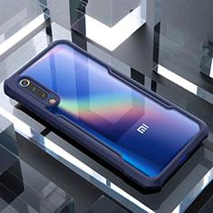 Silikon Schutzhülle Rahmen Tasche Hülle Durchsichtig Transparent Spiegel M02 für Xiaomi Mi A3 Lite Blau