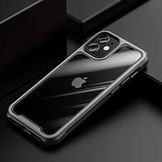 Silikon Schutzhülle Rahmen Tasche Hülle Durchsichtig Transparent Spiegel M03 für Apple iPhone 12 Mini Grau