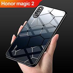Silikon Schutzhülle Rahmen Tasche Hülle Durchsichtig Transparent Spiegel M03 für Huawei Honor Magic 2 Schwarz