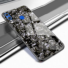 Silikon Schutzhülle Rahmen Tasche Hülle Durchsichtig Transparent Spiegel M03 für Huawei Honor View 10 Lite Schwarz