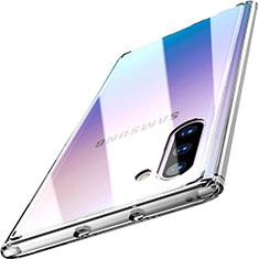 Silikon Schutzhülle Rahmen Tasche Hülle Durchsichtig Transparent Spiegel M03 für Samsung Galaxy Note 10 5G Klar