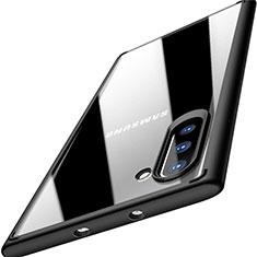 Silikon Schutzhülle Rahmen Tasche Hülle Durchsichtig Transparent Spiegel M03 für Samsung Galaxy Note 10 5G Schwarz