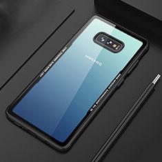 Silikon Schutzhülle Rahmen Tasche Hülle Durchsichtig Transparent Spiegel M03 für Samsung Galaxy S10e Schwarz