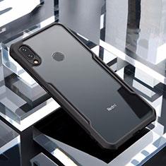 Silikon Schutzhülle Rahmen Tasche Hülle Durchsichtig Transparent Spiegel M03 für Xiaomi Redmi Note 7 Schwarz