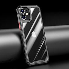Silikon Schutzhülle Rahmen Tasche Hülle Durchsichtig Transparent Spiegel M04 für Apple iPhone 12 Mini Schwarz