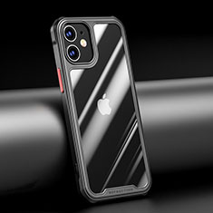 Silikon Schutzhülle Rahmen Tasche Hülle Durchsichtig Transparent Spiegel M04 für Apple iPhone 12 Schwarz