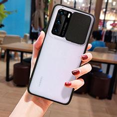 Silikon Schutzhülle Rahmen Tasche Hülle Durchsichtig Transparent Spiegel N05 für Huawei P40 Schwarz