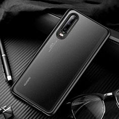 Silikon Schutzhülle Rahmen Tasche Hülle Durchsichtig Transparent Spiegel T01 für Huawei P30 Schwarz