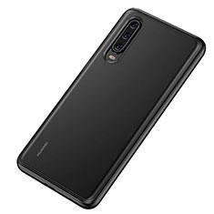 Silikon Schutzhülle Rahmen Tasche Hülle Durchsichtig Transparent Spiegel T04 für Huawei P30 Schwarz