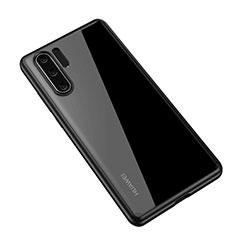 Silikon Schutzhülle Rahmen Tasche Hülle Durchsichtig Transparent Spiegel Z01 für Huawei P30 Pro Schwarz