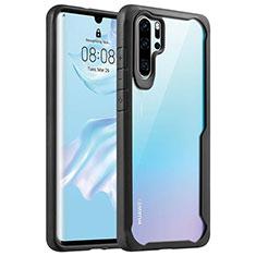 Silikon Schutzhülle Rahmen Tasche Hülle Durchsichtig Transparent Spiegel Z02 für Huawei P30 Pro Schwarz
