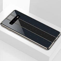 Silikon Schutzhülle Rahmen Tasche Hülle Spiegel A01 für Samsung Galaxy S10 Schwarz