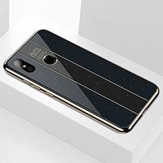Silikon Schutzhülle Rahmen Tasche Hülle Spiegel A01 für Xiaomi Mi 8 Schwarz
