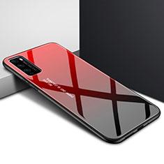 Silikon Schutzhülle Rahmen Tasche Hülle Spiegel Farbverlauf Regenbogen für Huawei Enjoy 20 Pro 5G Rot
