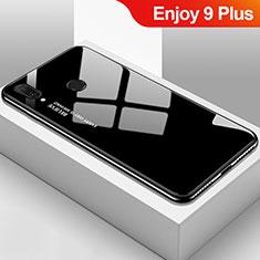 Silikon Schutzhülle Rahmen Tasche Hülle Spiegel Farbverlauf Regenbogen für Huawei Enjoy 9 Plus Schwarz